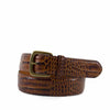 Alligator Grain Leather Belt