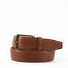 Full-Grain Feathered Edged Leather Jean Belt