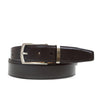 Smooth Dress Belt with Metal Keeper