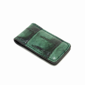 Genuine Vintage Crocodile Tail Magnetic Money Clip