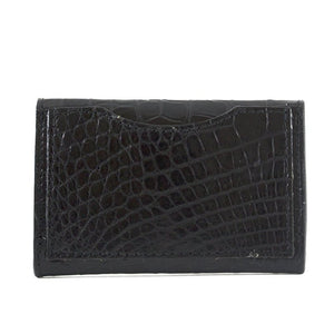 Genuine Alligator Envelope Card Case with Hidden Snap