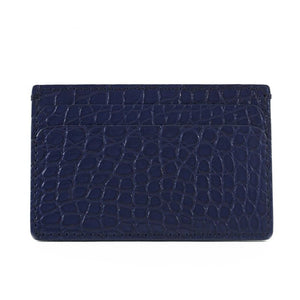 Slugger brown Genuine Matte Alligator 5-Pocket Card Case