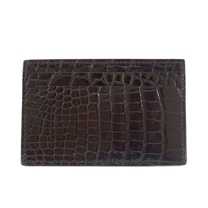 Genuine Shiny Alligator 5-Pocket Card Case