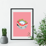 Contact Light | Louise Rivett Limited Edition Wall Art Print