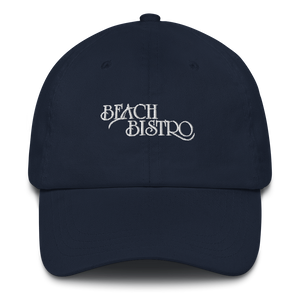 Classic Beach Bistro Cap - White Embroidery