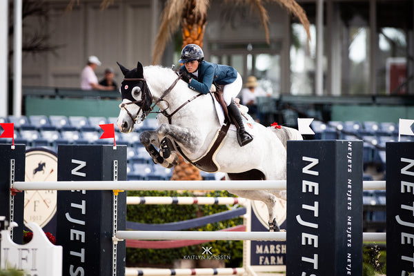 Caitlyn Connors competing at the Winter Equestrian Festival (WEF) in the International Area
