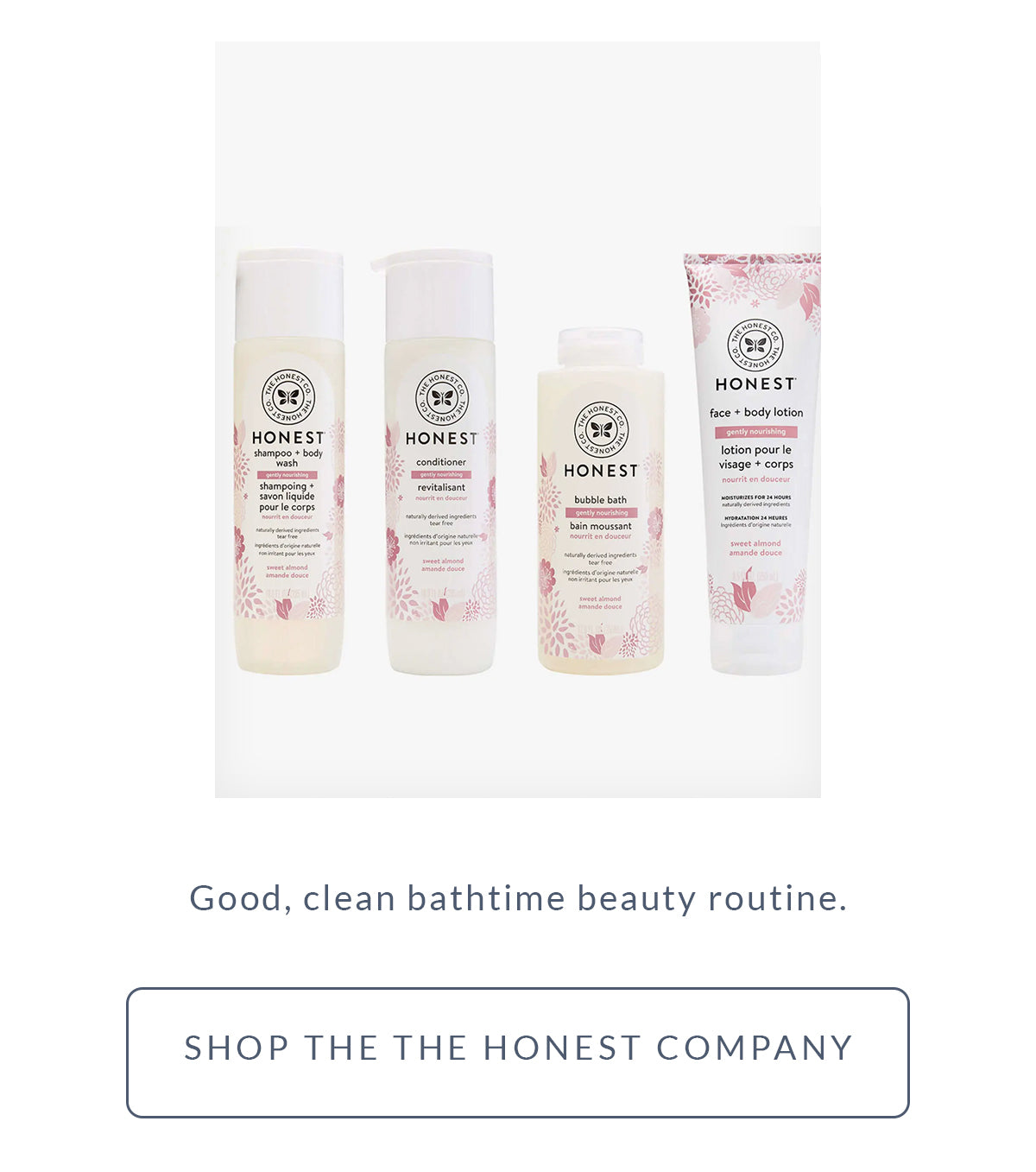 Free x Rein Mother's Day Gift Guide - Honest Bath Set
