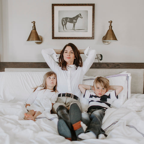Alli Addison with her children