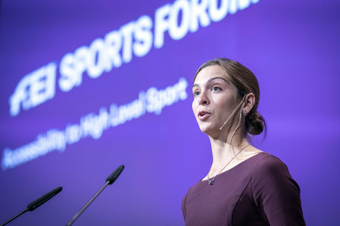 Catie Staszak at the FEI Sports Forum