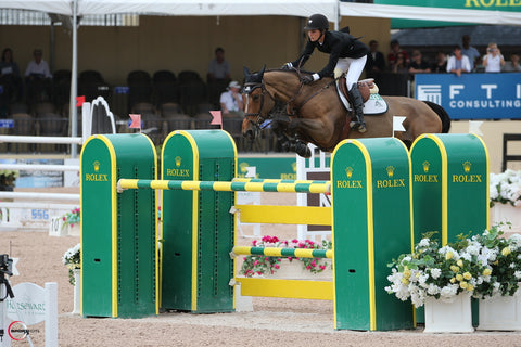 Carly Anthony competing in Wellington, Florida