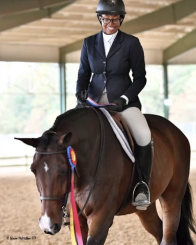 Jordan Allen in Free x Rein riding apparel