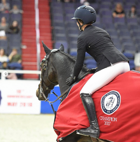 Alex Welles, Champion at the Washington International Horse Show
