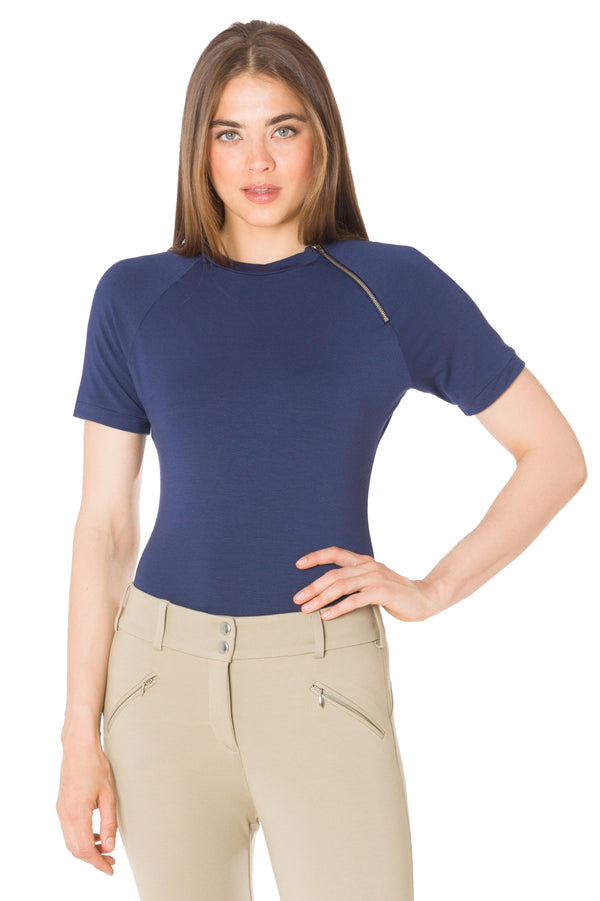 Marine Blue-The Short Sleeve Moto Shirt
