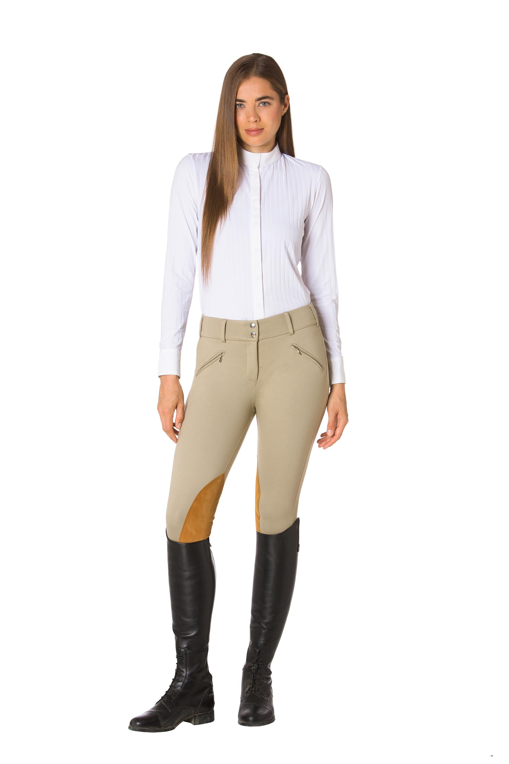 White-The Elite Equestrian Bodysuit