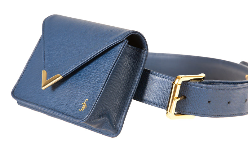 Azure-The Equestrian Hip Bag - Large