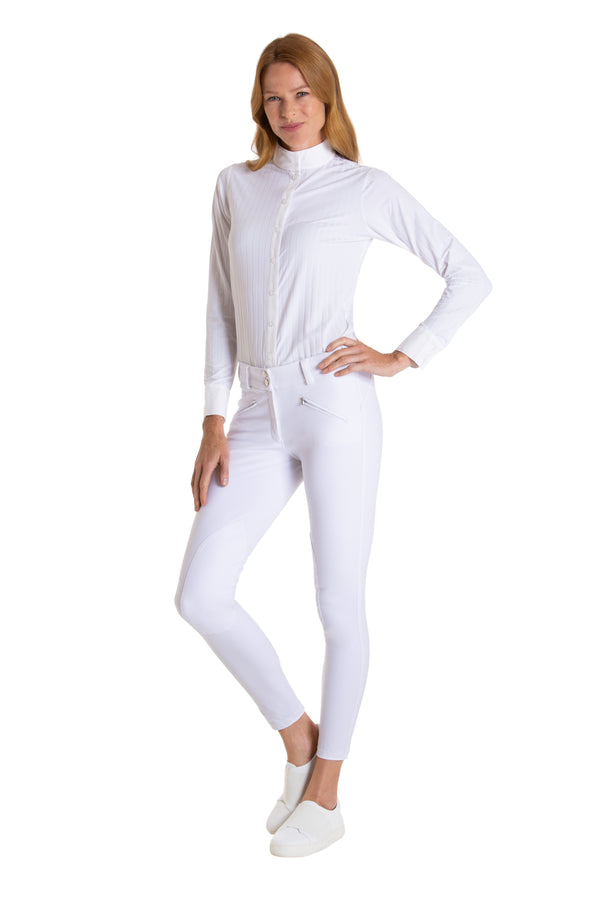 The Elite Equestrian Bodysuit-The All White Everything - Free x Rein