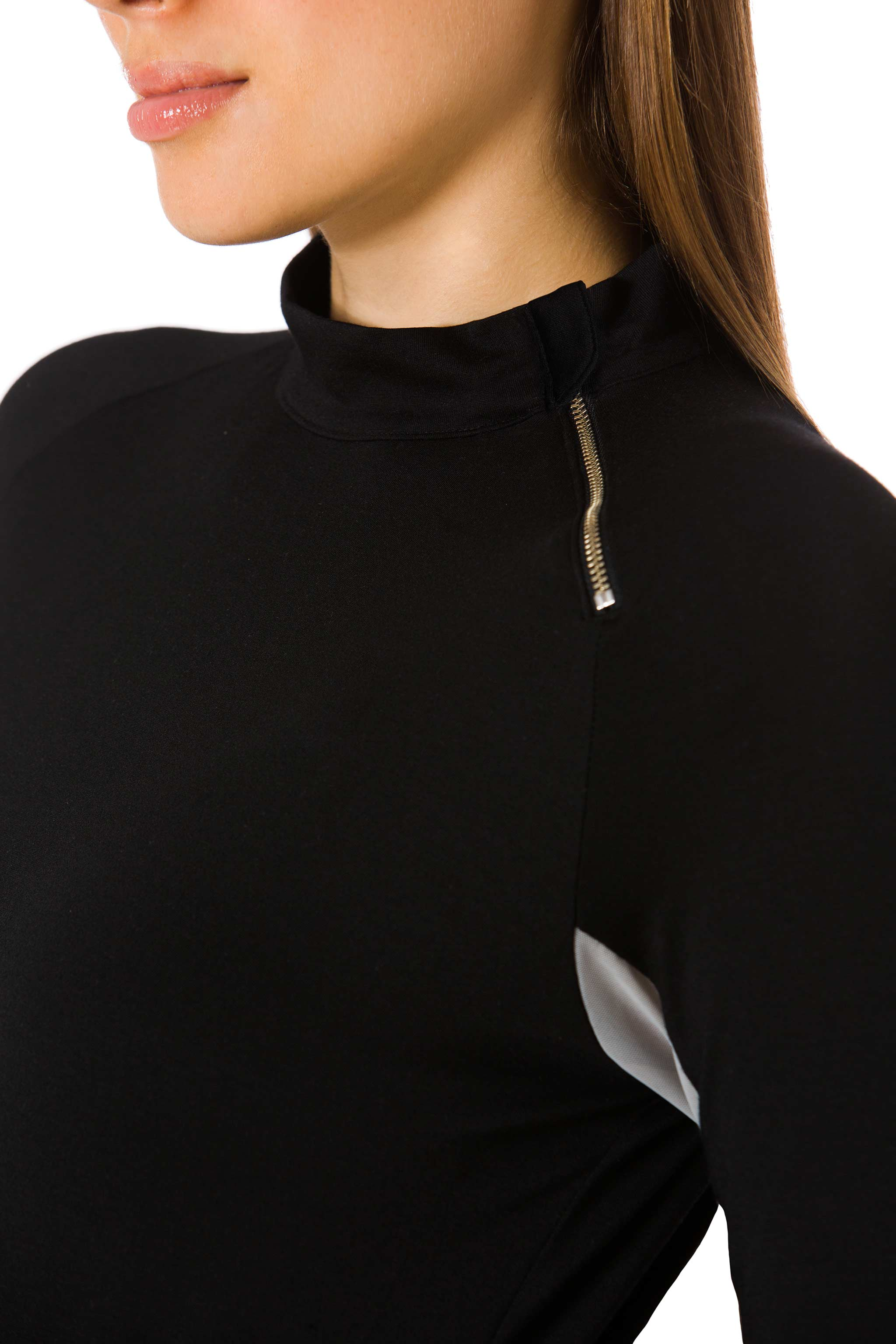 Black | Grey-The Moto Equestrian Bodysuit