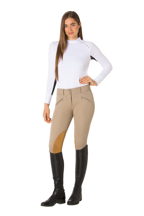 White | Black-The Moto Equestrian Bodysuit