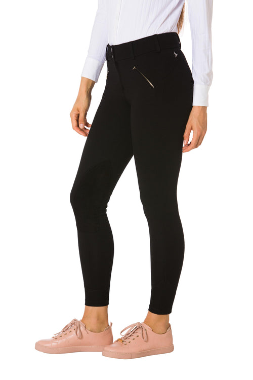 Black-The Signature Ponte Riding Pant - Free x Rein