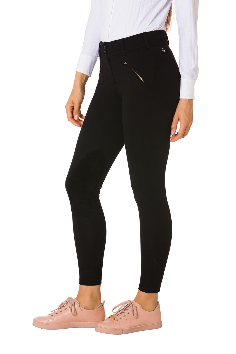 Black-The Signature Ponte Riding Pant
