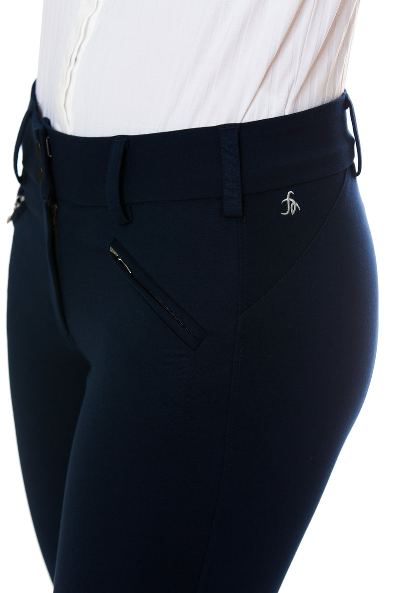 Navy-The Signature Ponte Riding Pant - Free x Rein