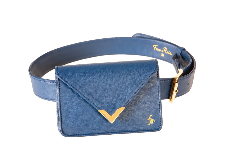 Azure- The Equestrian Hip Bag - Large