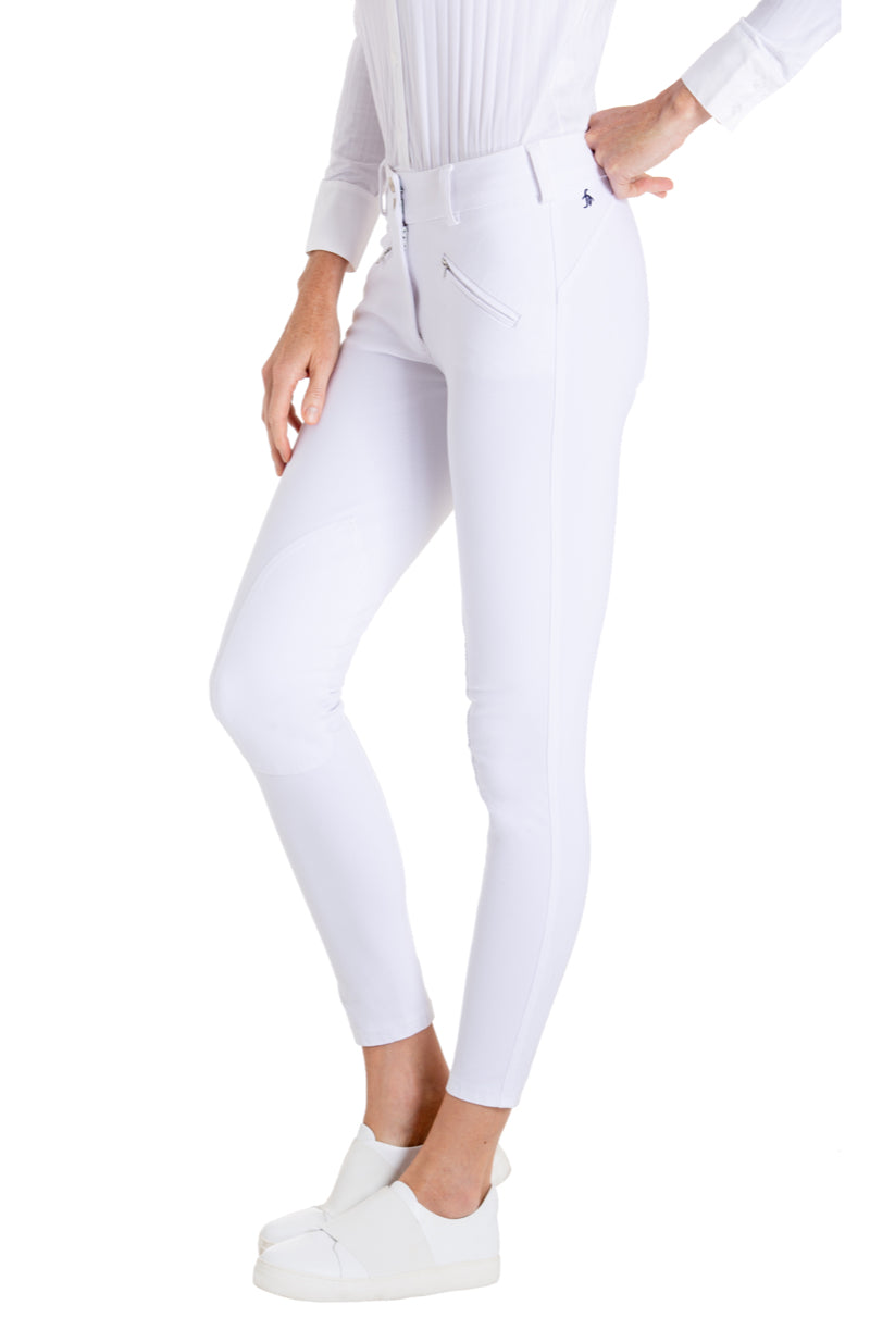 Sunday White -The Hunt Riding Pant - Free x Rein