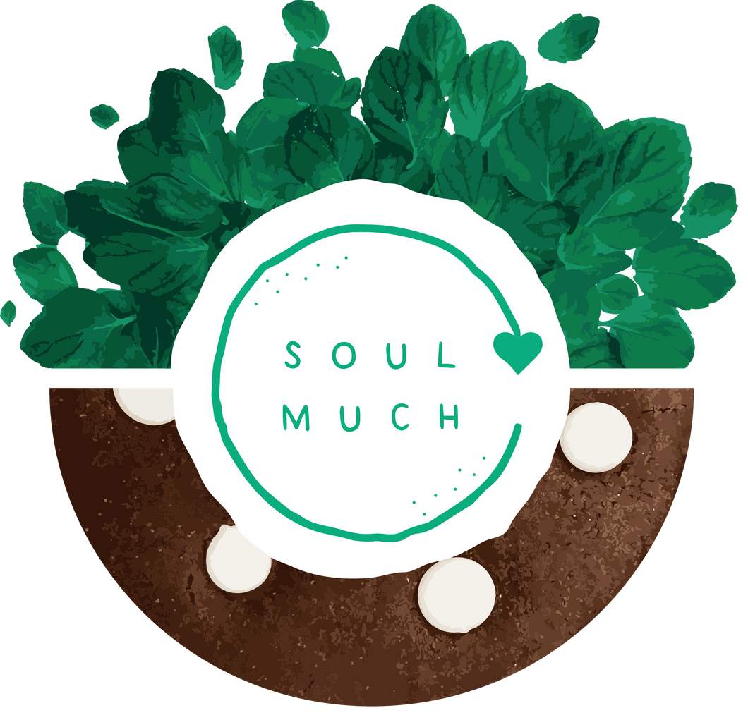 Mint Dark Chocolate cookie with SOULMUCH logo in the center