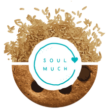 Load image into Gallery viewer, Vegan Chocolate Chip Cookie with SOULMUCH logo in the center