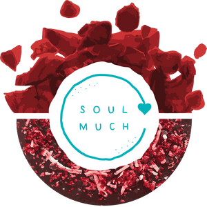 Red velvet Cookie with SOULMUCH Logo in center