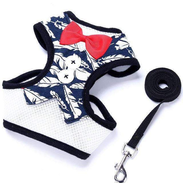 Bowtie Tuxedo Vest Harness: Feather / XL