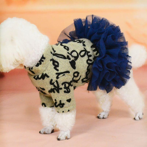 Cute Dog Outfit with Skirt