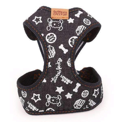 Denim Fabric Doggy Harness