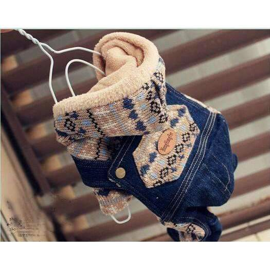 Designer Cotton-Padded Denim Coat Jacket