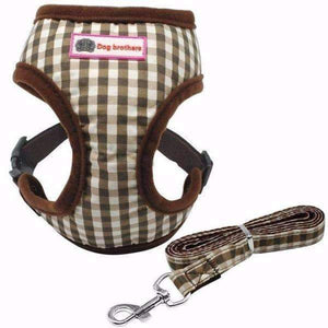 Dog Brothers Puppy Harness & Leash: Coffee / L