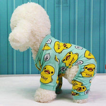 Load image into Gallery viewer, Duckies Soft Cotton Dog Pajamas - Green