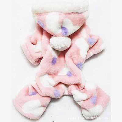 Fleece Winter Dog Pajamas - Pink: Pink / S