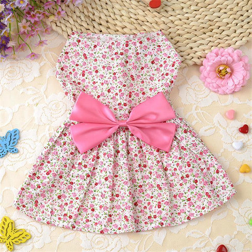 Lovely Floral Pet Dress