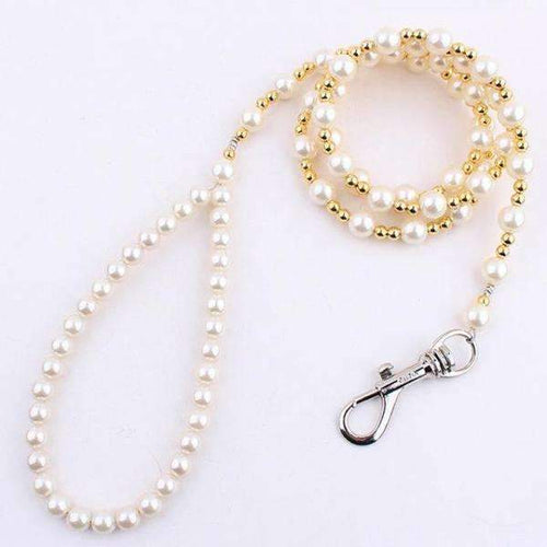 Luxury Pearls Dog Chain Leash: Default Title