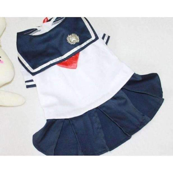 Navy Style Sailor Dress: Navy Dress / L