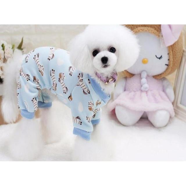 New Soft and Warm Dog Pajamas: Blue / S