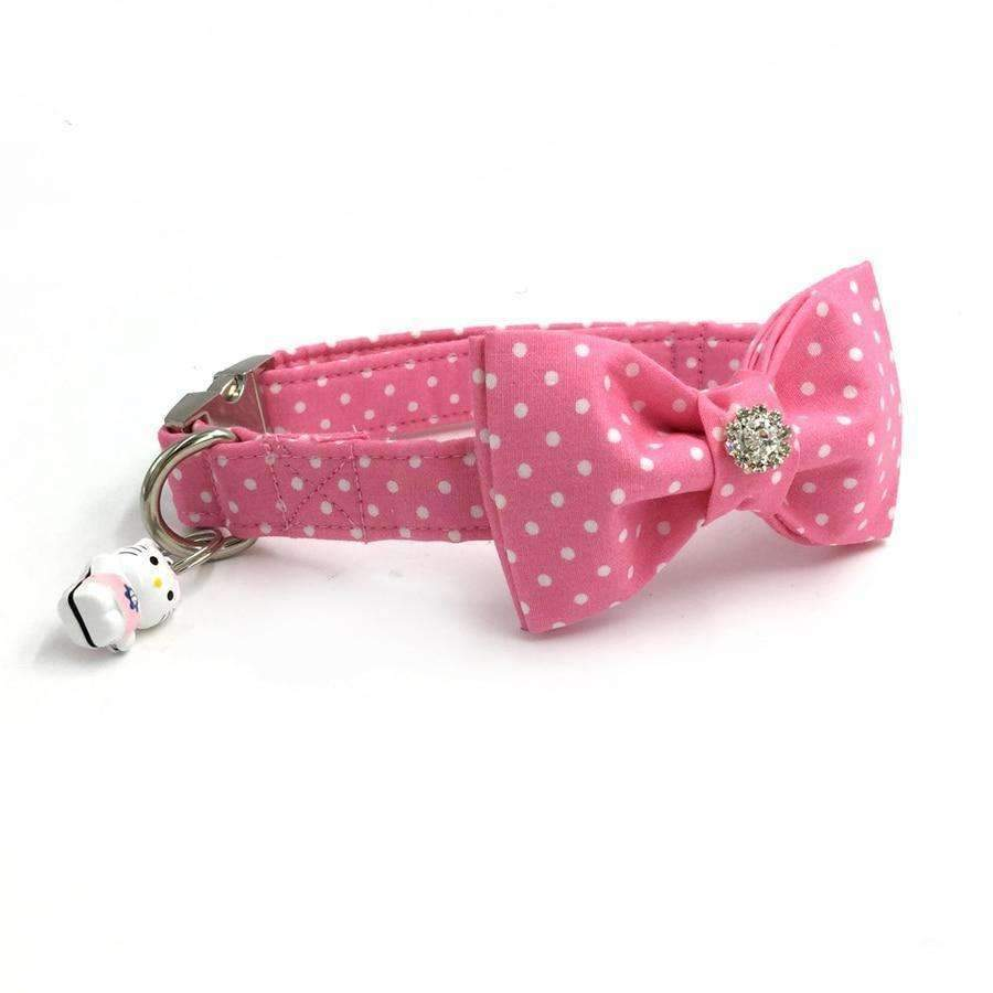 Pawz Cool Doggy Collar Pink Dots