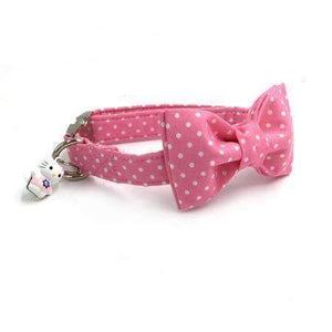 Pawz Cool Doggy Collar Pink Dots: Burgundy / XS