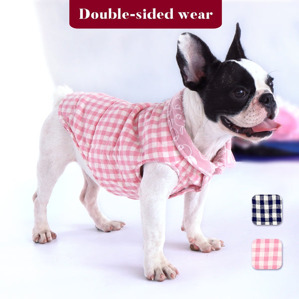 Warm and Reversible Dog Jacket