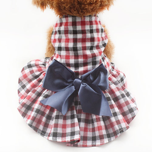 Plaid Princess Dog Dress