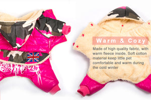 Waterproof Pet Warm Camo Coat