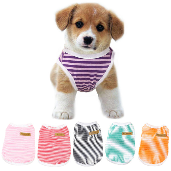 Spring & Summer Classic Stripes Dog T-Shirt