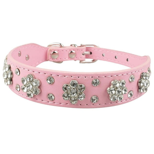Didog Rhinestone Dog Collar