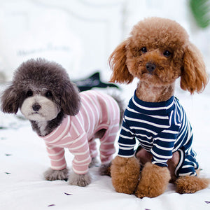 Striped Jumpsuit for Small and Medium Dogs