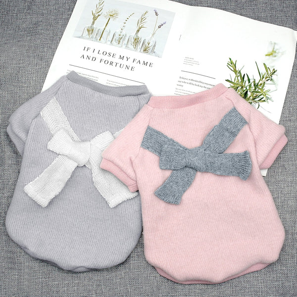 Cute Bowknot Dog Sweater